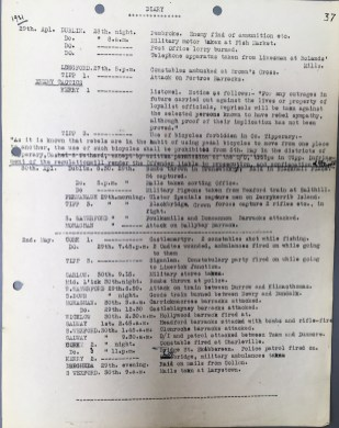 Running Diary dated 29 April to 2 May 1921, p37 (UCDA P7/A/16)