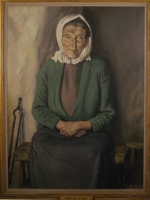 Framed painting of Anna Nic a'Luain.