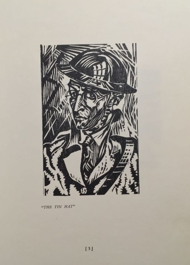 'The Tin Hat' from <em>Thirty-Six Woodcuts.</em>