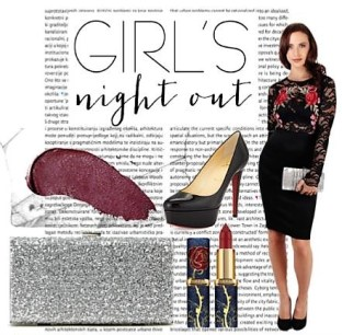 """Graphic showcasing a """"Girls Night Out"""" look"""