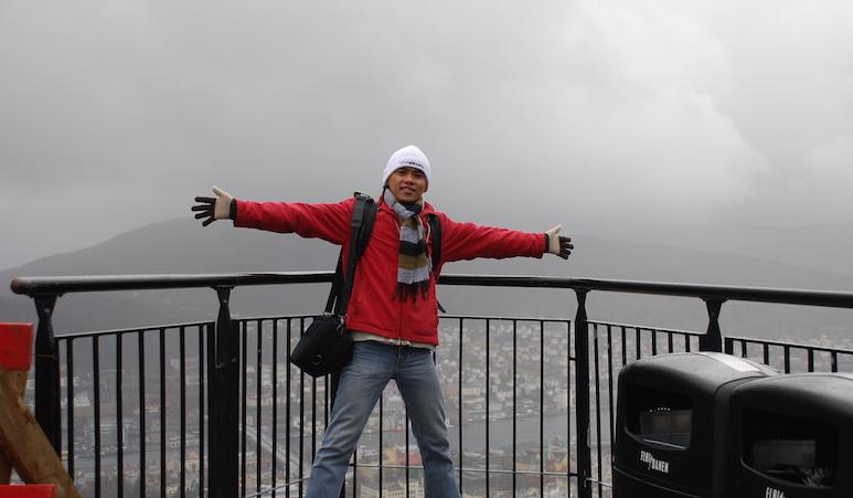Bergen dari puncak Floien