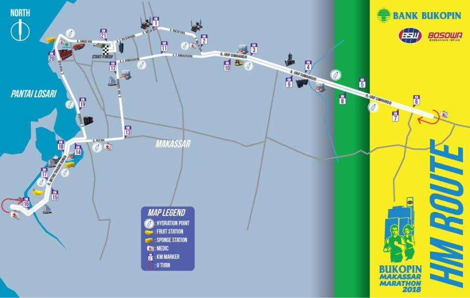 Rute Bukopin Makassar Marathon 2018