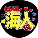 無料 応援うちわ 文字 印刷【king&prince 高橋 海人】