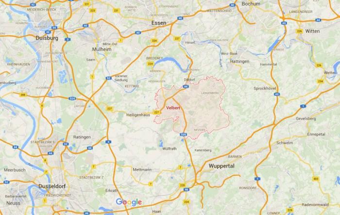 Velbert – Mapy Google