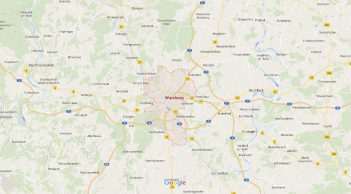 Wurzburg – Mapy Google