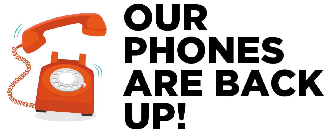 Phone Service Has Been Restored
