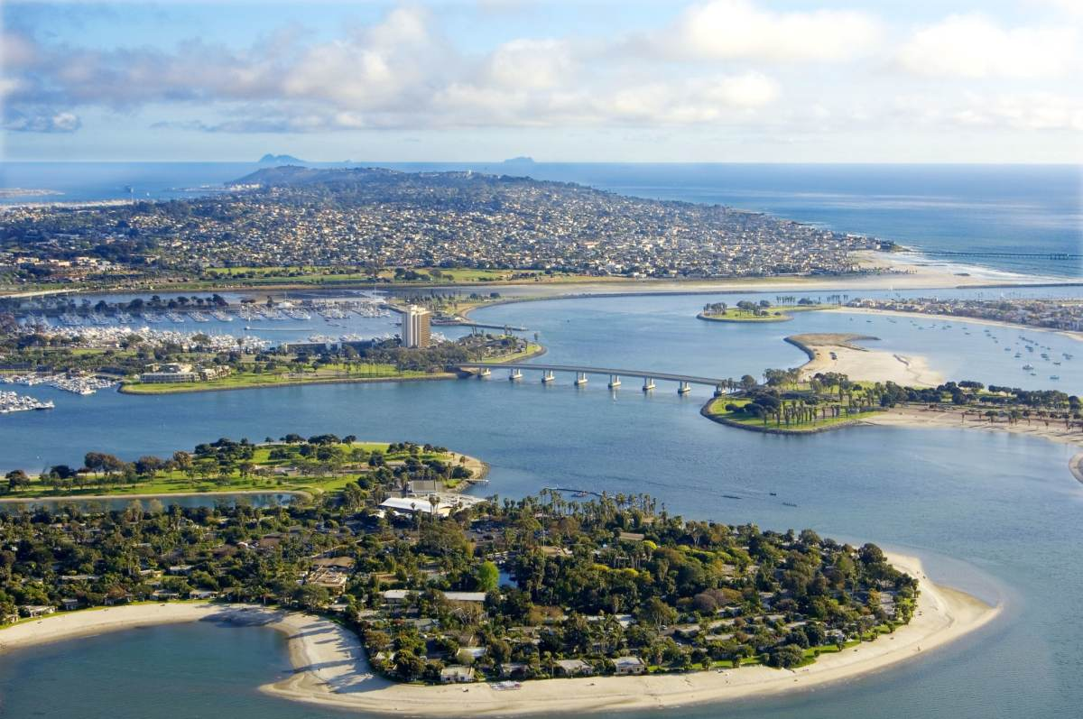 Aerial Photo Mission Bay San Diego