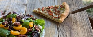 Slice of Pizza and a Salad