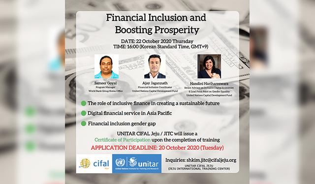 UNITAR CIFAL JEJU: Financial Inclusion and Boosting Prosperity