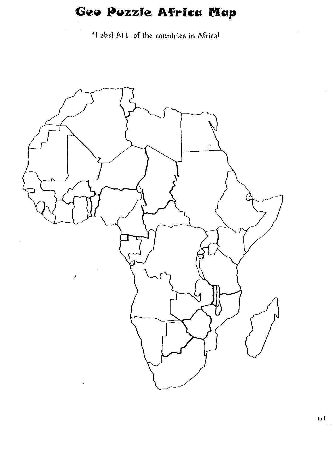 5d Geopuzzle Africa Map Uc Links Activity Guides