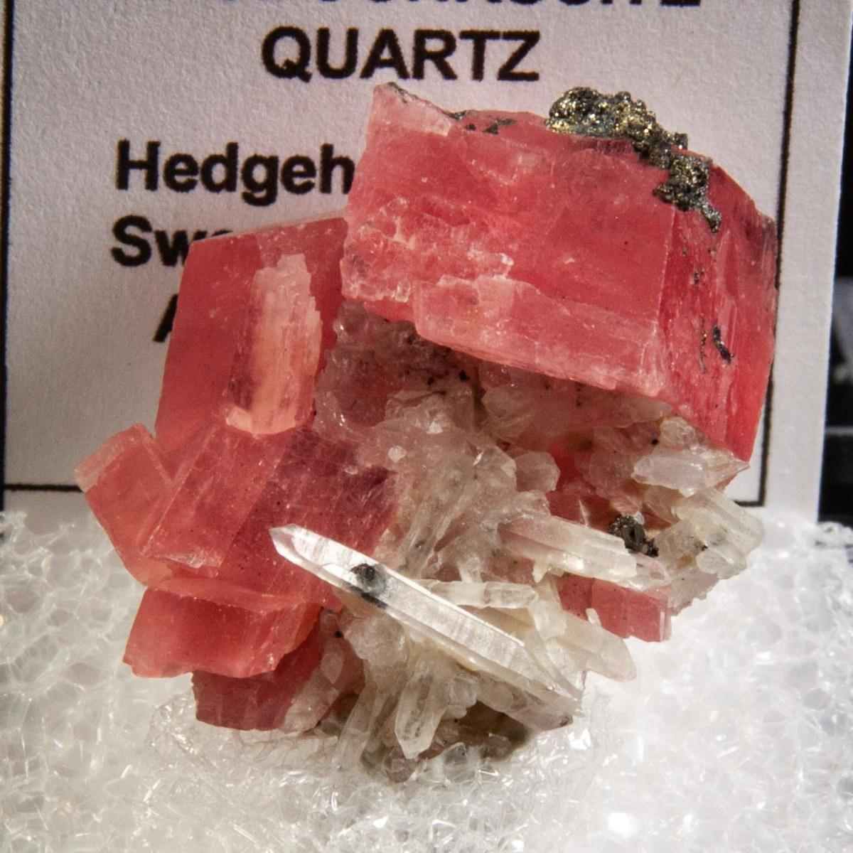 Rhodochrosite and Quartz with Pyrite