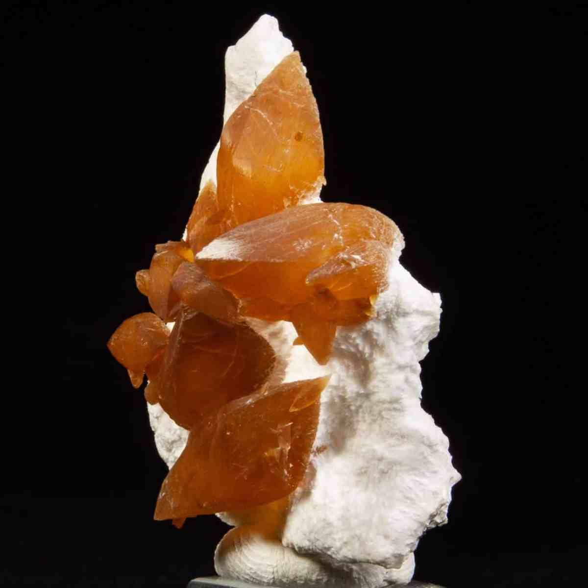Calcite on Chalcedony