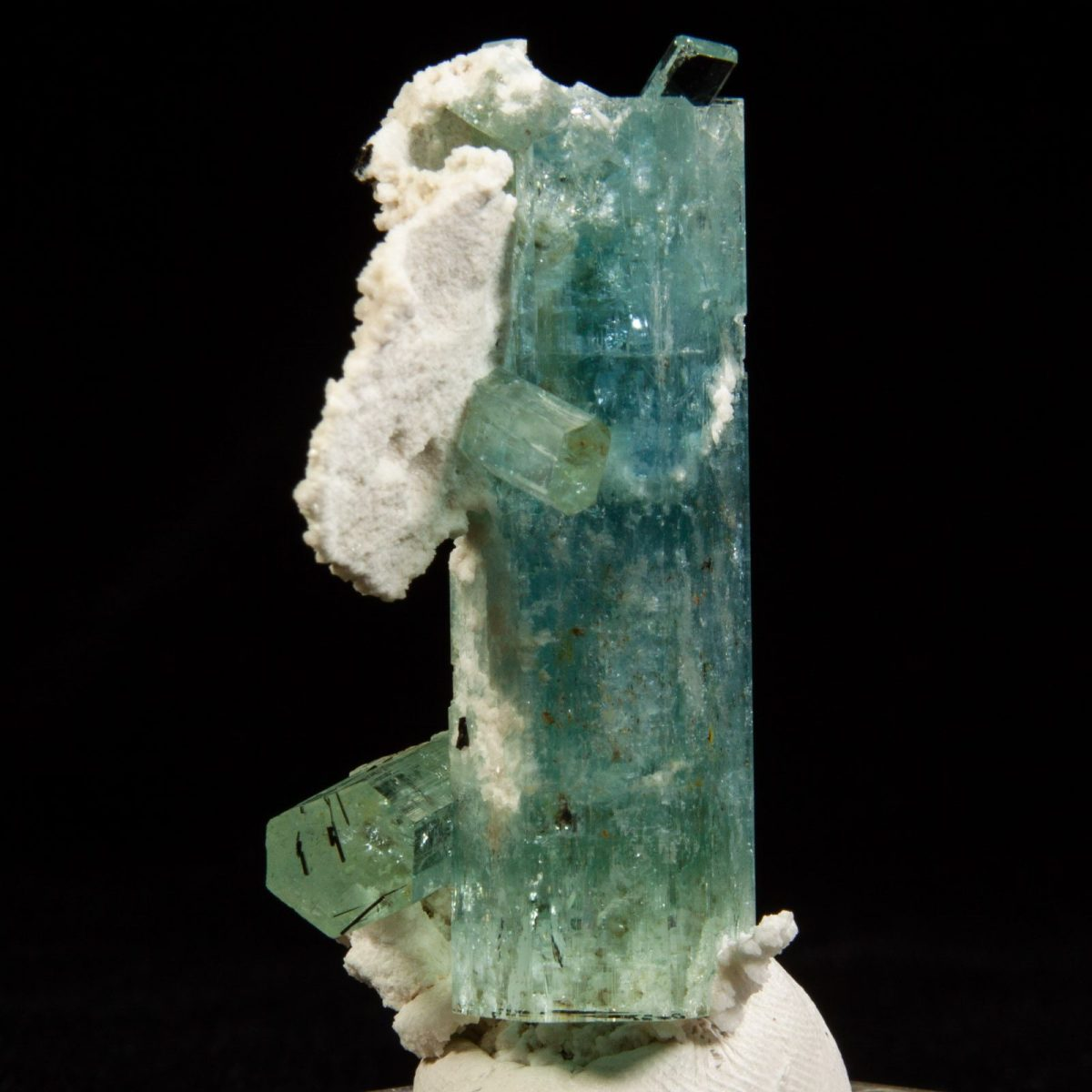 Beryl var. Aquamarine with Albite