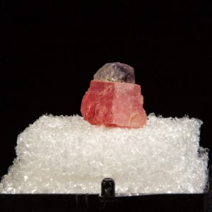 Fluorite on Rhodochrosite