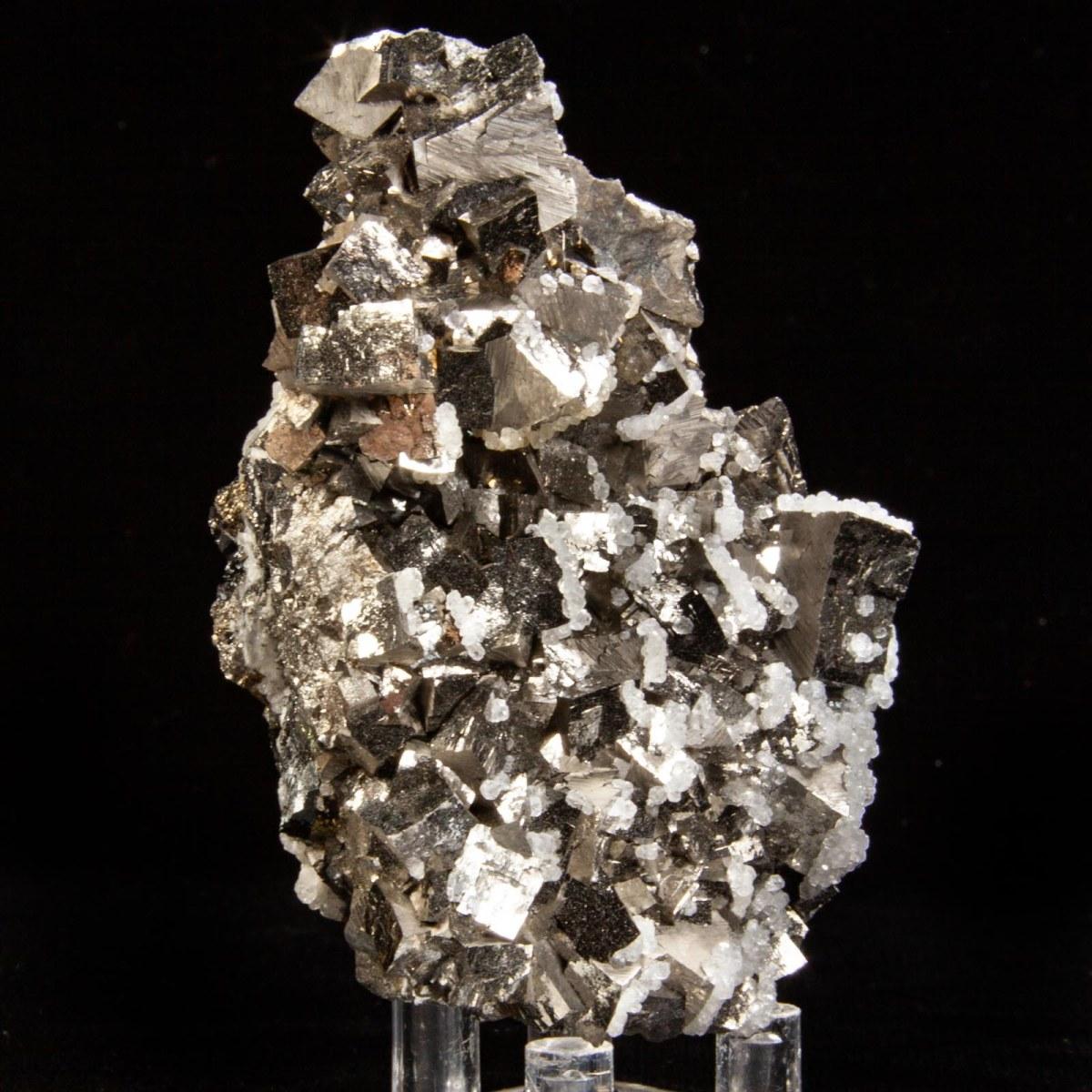 Calcite on Arsenopyrite