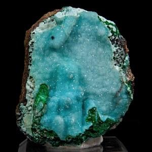 Malachite with Chrysocolla and Quartz