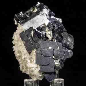 Galena with Quartz and Calcite