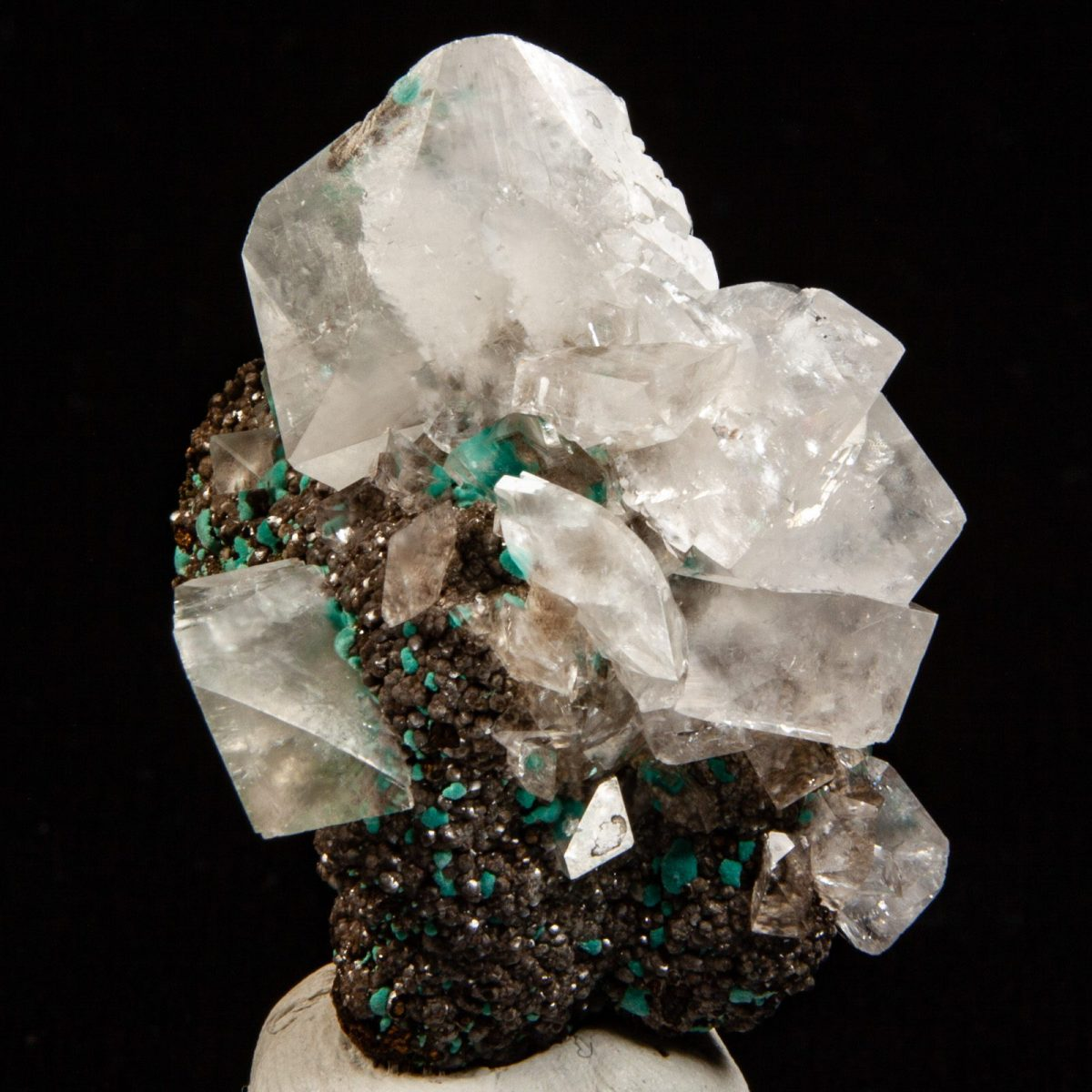 Calcite with Rosasite