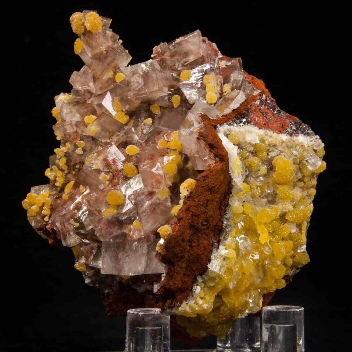 Calcite with Mimetite