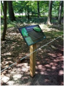 sensory trail guide rope signage