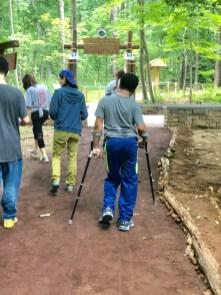 sensory trail walk to circle