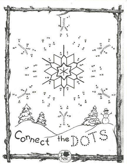 winter connect the dots