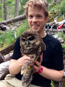 Parker Forman parlayed his supercourse skills into positions monitoring northern spotted owls. Image courtesy Parker Forman