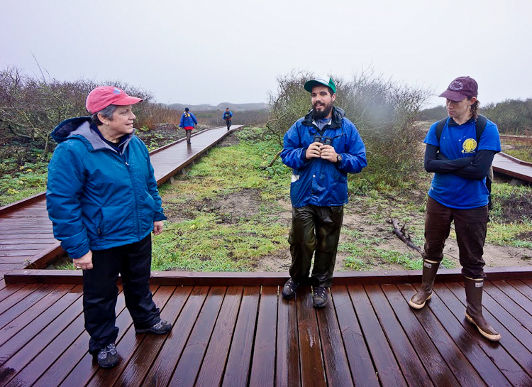UC President Janet Napolitano visit at the Año Nuevo Island Reserve