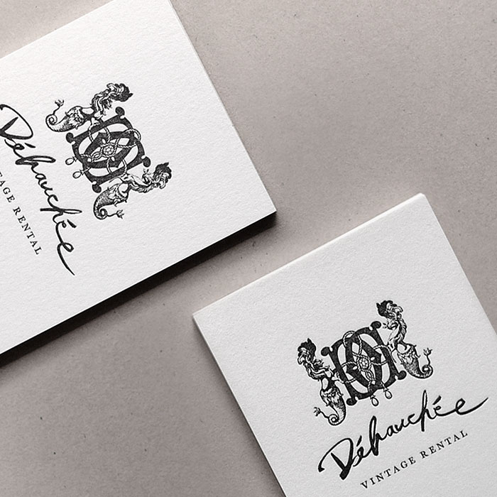 ucocollective Debauchee vintage business card design crest collage