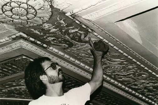 Painting of the Theatre Ceiling in 1990