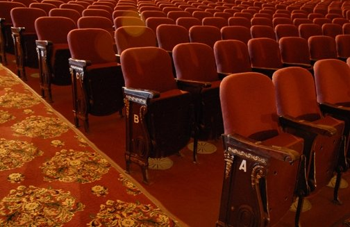 The Main Stage - Close up of the Orchestra seats