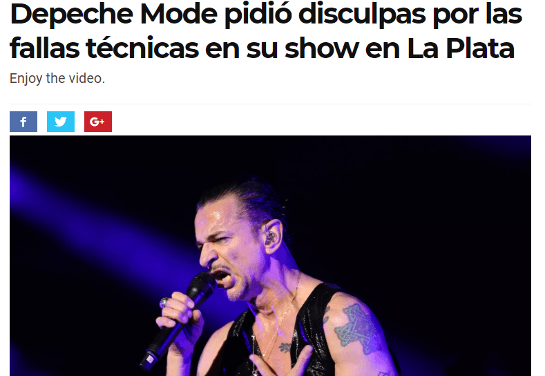 Recital de Depeche Mode: UCU interpuso demanda colectiva.
