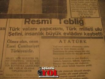 10 kasım 1938 gazete manşetleri (2)