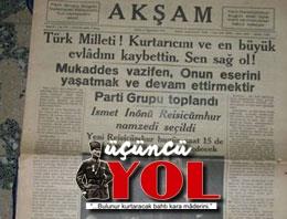 10 kasım 1938 gazete manşetleri (4)