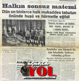 10 kasım 1938 gazete manşetleri (5)