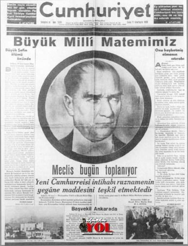 10 kasım 1938 gazete manşetleri (8)