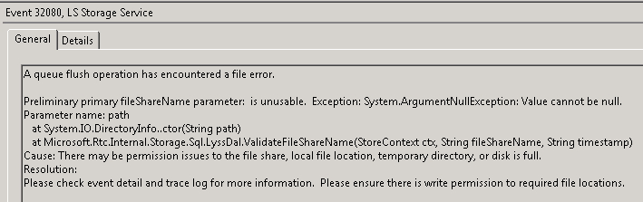 Preliminary Primary FileShareName Parameter is Unusable