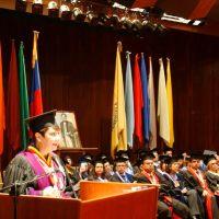 Discurso de Rectora Cecilia García-Arocha durante el acto de grado de facultades de Arquitectura y Urbanismo; Ciencias Jurídicas y Políticas e Ingeniería