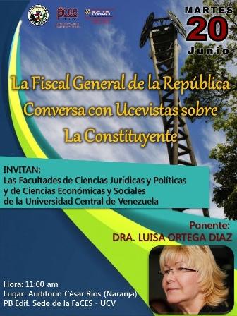 Fiscal General hablará sobre la Constituyente en la UCV