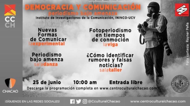 """ININCO invita al evento """"Periodismo para la democracia y comunicación"""""""