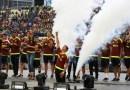 Olímpico #UCV se colmó para recibir héroes Vinotinto