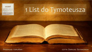1 List do Tymoteusza