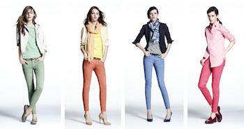 ユニクロのスキニーパンツを着こなす方法2 (カラー)