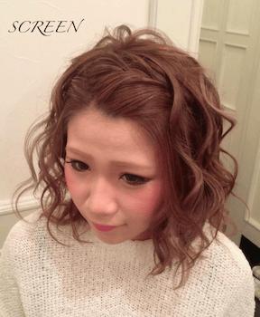 入学式でスーツに合うレディースの前髪アップゆるミックス巻きの髪型