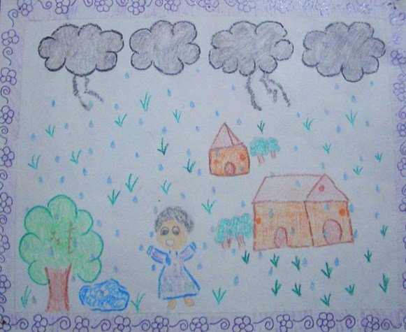 Five Best Drawings Of Rain By Children Of Taiyyebiyah School