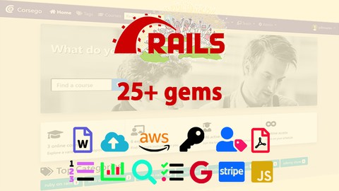 [2021] Ruby on Rails 6: Learn 25+ gems and build a Startup MVP