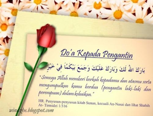 Doa dan Ucapan Selamat menikah bahasa arab