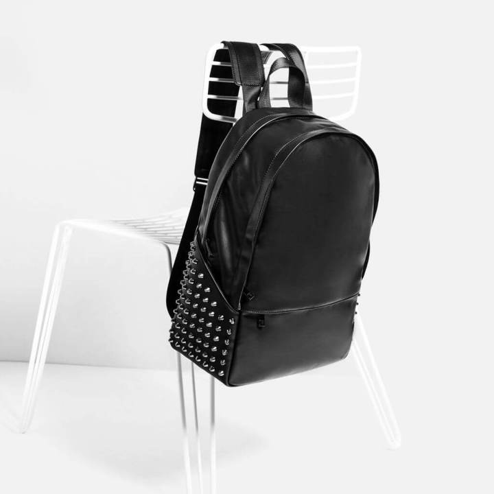 ZARA Black Studded Backpack