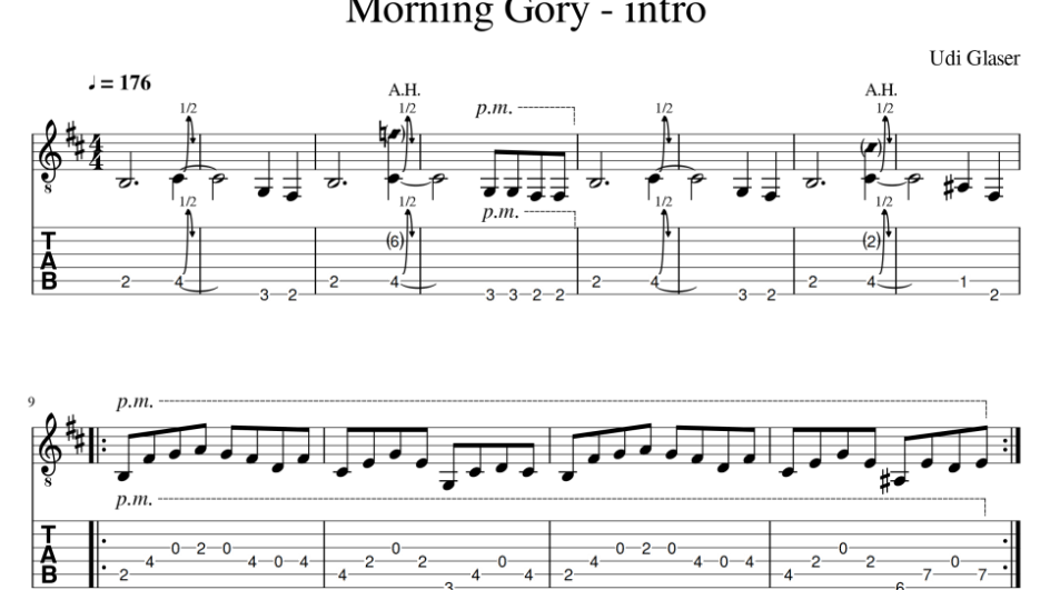 Guitar riffs: Morning Gory