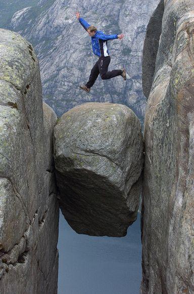 Прыжок над Кьергаболтеном. Фото